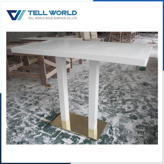 Classic Restaurant Acrylic Solid Surface Dinner Table/Fast Food Shop Table