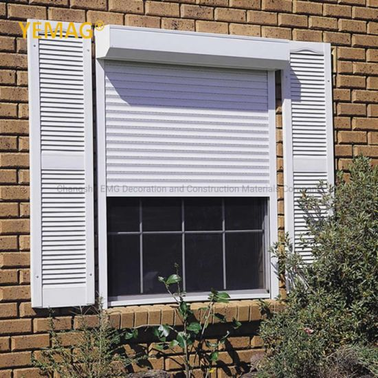 Wholesale Exterior Automatic Intelligent Insulated Roller Shutter Rolling Shutter Roll-up Aluminum Metal Door Shade Window Shutter Factory Price