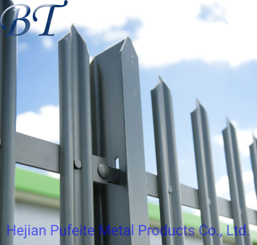 Wholesale Galvanized and PVC Coated Metal Palisade Security Fencing.