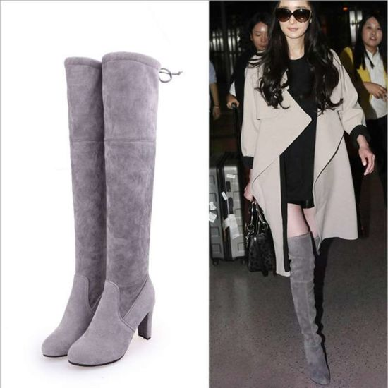013f9fafae92 The Winter Warm Cotton Suede Boots High Heels Boots Women Shoes Winter Snow  Boots for Women - China Boots Women Shoes
