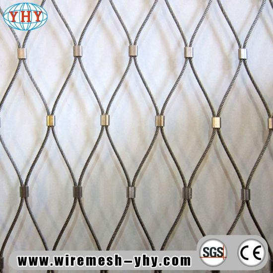 China Stainless Steel Wire Mesh Diamond Size Animal Cage - China Zoo ...