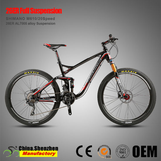 26er Shimano M610 20speed Aluminum Full Suspension Mountian Bike pictures & photos