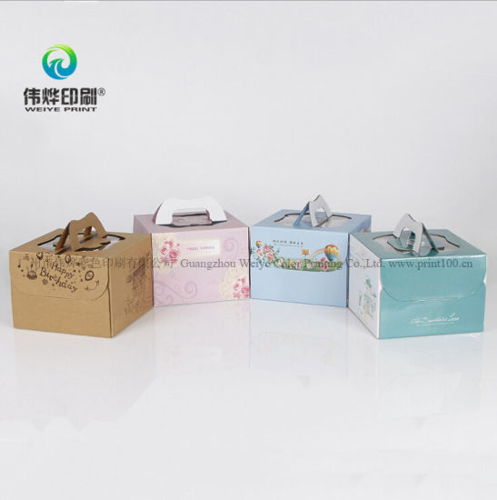 Customized Corrugated Paper Printing Color Cake Packaging Box pictures & photos