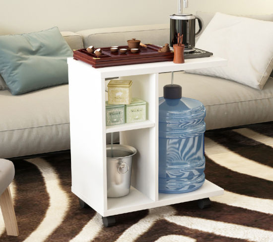 Living Room Movable Tea/Side Table Style Square Wood Coffee Table