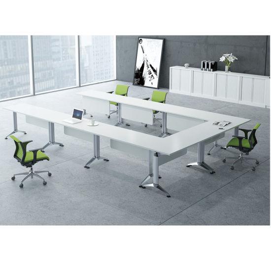 Rectangular Shape Table Top Computer Desk for Training Room