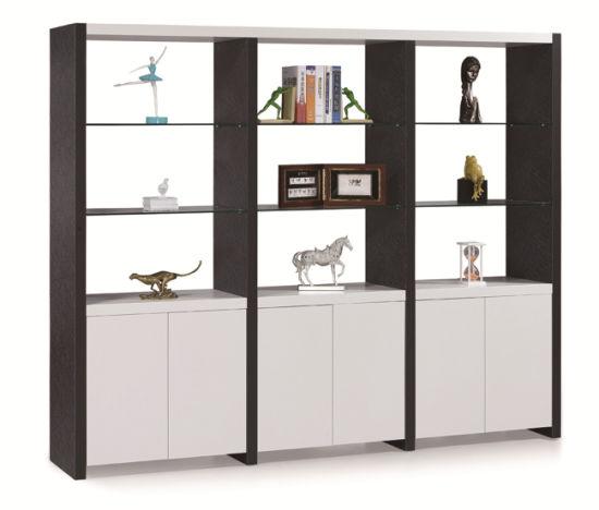 Melamine Veneer Wooden 6 Doors Filing Book Cabinet Bookcase Bookshelf