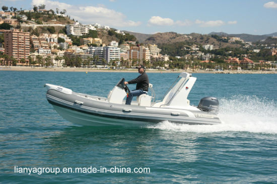 Liya 17FT Luxury Rib Boat Hypalon Rigid Inflatable Boats Center Console