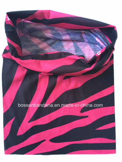 China Factory Produce Custom Logo Printed Polyester Microfiber Neck Tube Headscarf pictures & photos