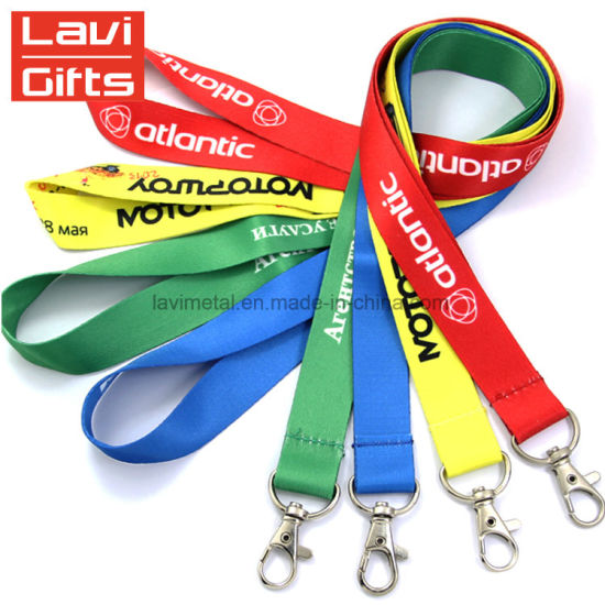 Free Sample High Quality Personalized Custom Funy Printed Woven Cell Mobile Phone Lanyards No Minimum Order