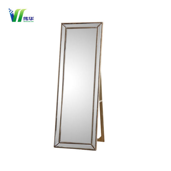China Wooden Frame Stand Floor Mirror for Dressing - China Floor ...