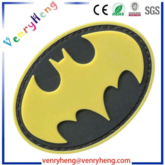 OEM Custom 3D Logo Name Garment Rubber PVC Label Patches