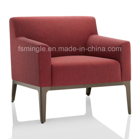 Dubai Leisure Office Furniture Solid Wood Genuine Leather Office Sofa In  Single Chair