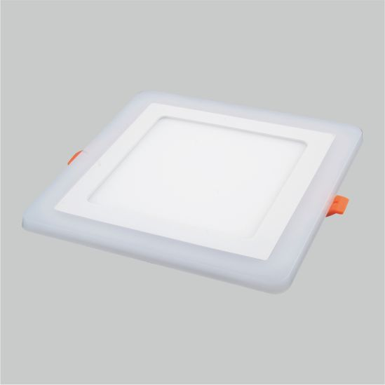 LED Color Panel Light Square Inside 3+2W 6+3W 12+4W 18+6W Ceiling Lamp Manufacturer Price Factory Panel Light