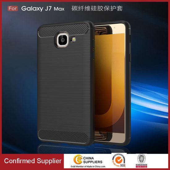 Carbon Fiber Soft TPU Cell Phone Case for Samsung Galaxy J2 / J5 / J7 / J7 Prime