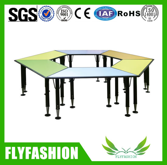China Activity Table Study Trapezoid Table Classroom Furniture