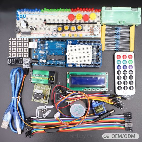 Hot Selling Uno R3 Basic Starter Learning Kit Upgrade Version for Arduino