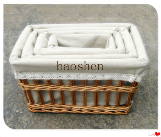 Gift Picnic Willow Food Wooden Flower Storage Basket pictures & photos
