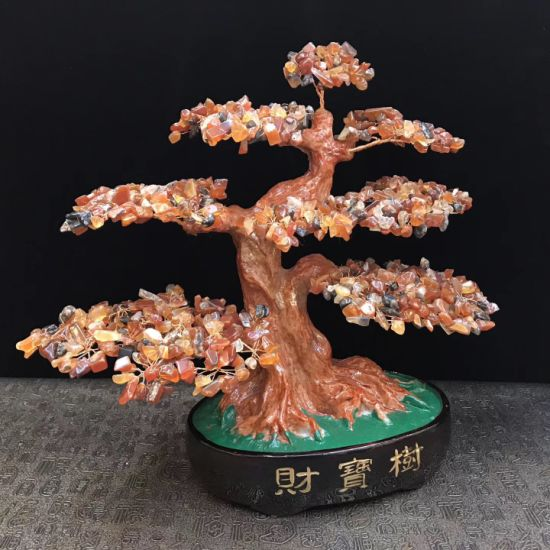 Copper Wire Wrapped Gemstone Red Agate Rock Bonsai Tree For Christmas Ornament China Gemstone Tree And Agate Tree Price Made In China Com