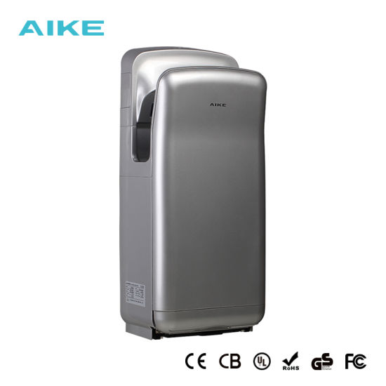 Hand Dryers Home Appliances Aike Ak2630t High Speed Dry Hand Machine Fully Automatic Induction Jet Type Hot And Cold Silver Hand Dryer