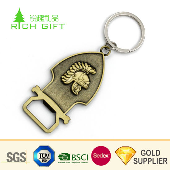 No Minimum Custom Logo Wholesale Bottle Opener Zinc Alloy Metal Keychain  Customized Promotion Laser Engraving Gold Airplane Car Coin Key Chain for