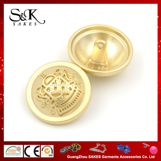 Grade a Plated Fashion Metal Shank Button Alloy Sewing Button for Garments