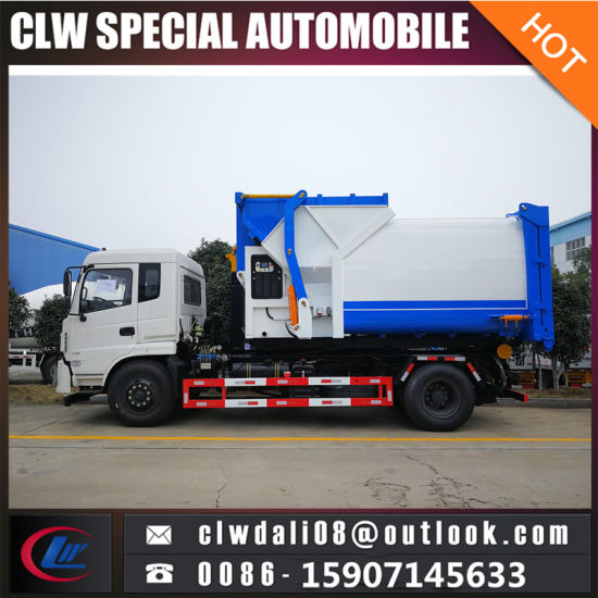 4X2 Side Auto Loading Compactor Garbage Truck