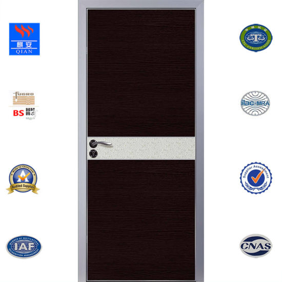 Melamine Skin MDF Soundproof Ecotype Aluminum Door Interior Aluminium Frame  Wood Toilet Bathroom Bedroom Wooden Door With Waterproof Design (ED VA 004)