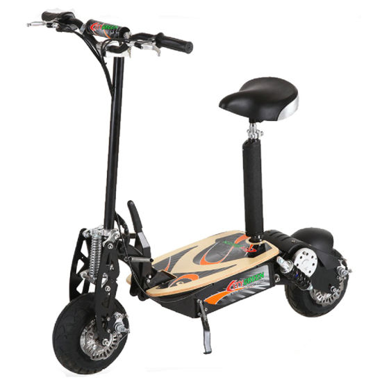 """1500W 48V Brushless Motor 2 Wheel Electric Scooter with 12"""" Wheel Green 01"""