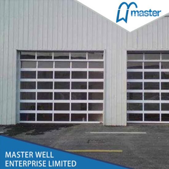 Latested Design Aluminum Gl Garage Door Full View Frosted