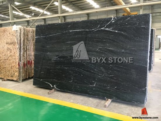 Vera Black Granite for Slabs / Tiles / Countertops / Vanity Tops with White Veins pictures & photos