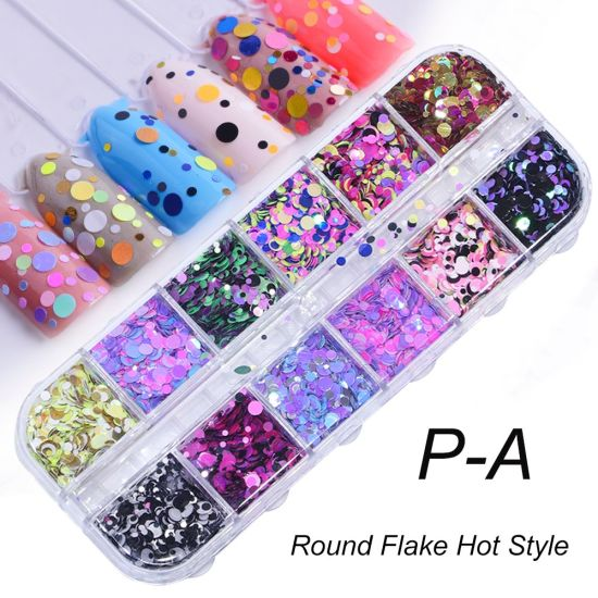 12 Grids/Sets Nail Glitter Sequin Mixed DIY Flake Nail Art Decorations pictures & photos