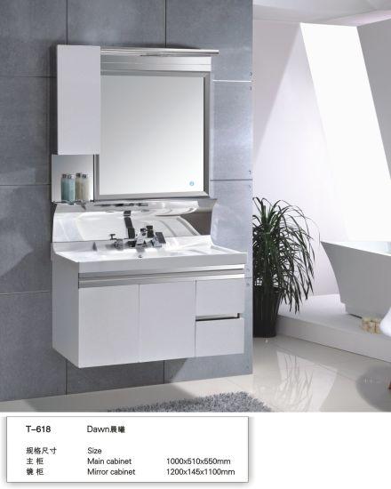 304 Stainless Steel Modern Wall Mounted Bathroom Vanity Cabinet
