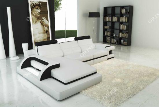 Modern Full Italian Leather Sectional L Shaped Sofa