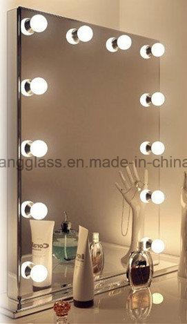 Glass Led Bathroom Mirror Vanity, Vanity Mirror With Lights Frameless