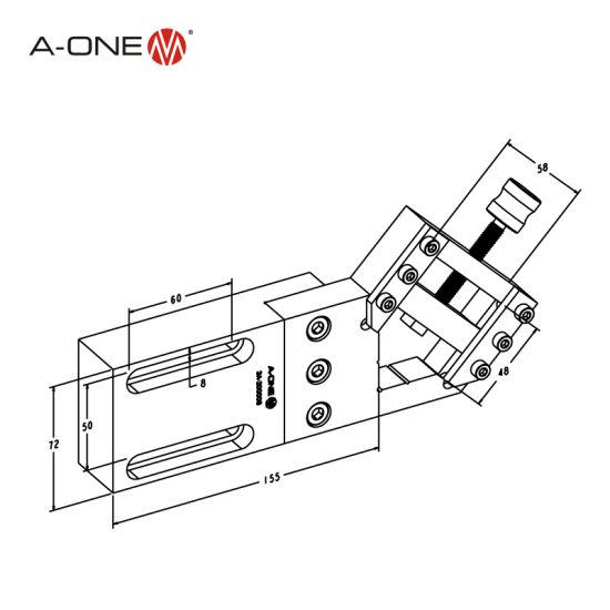China Precision Quick Change Wire Cut Edm Vise