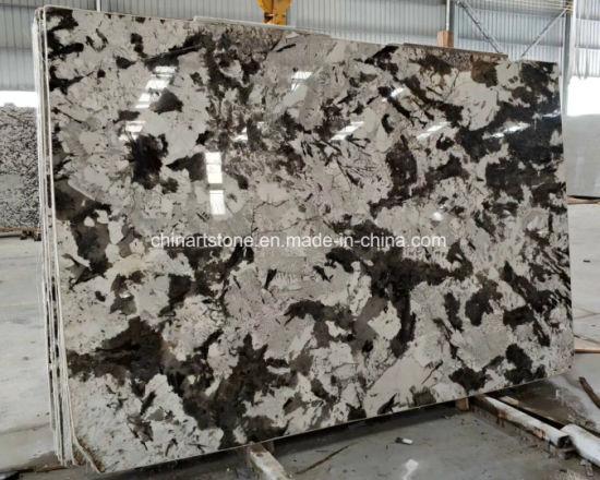 Snow Fox Brazil White Granite Slabs