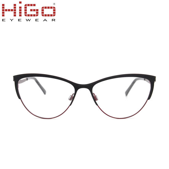711b82b3d Cat Eye Stainless Steel Style Optical Frames China Manufacturers ...