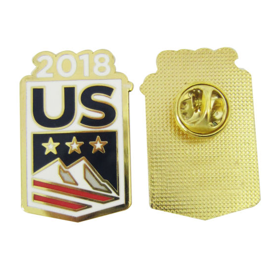 eb5920d3b2c 2018 Custom Logo Hot Selling Us Emblem Lapel Pin Badge with Butterfly  Clutch (075)