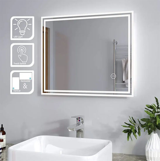 GS Approval China Supplier Vanity Bathroom Anti-Foggy Wall Mounted Mirror with Lights