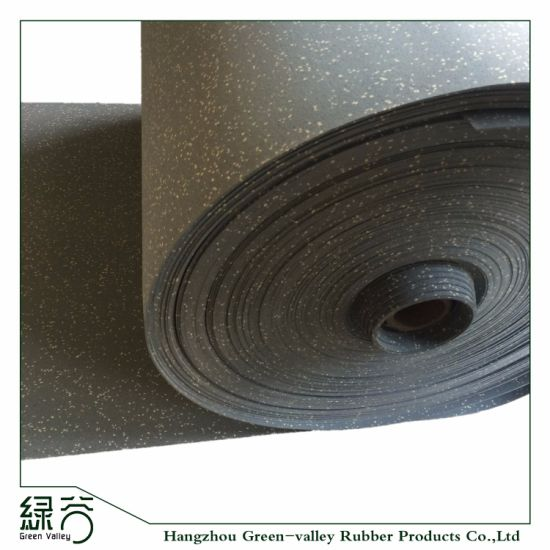 EPDM Speckles Gym Fitness Rubber Flooring Rolls Rubber Mats pictures & photos