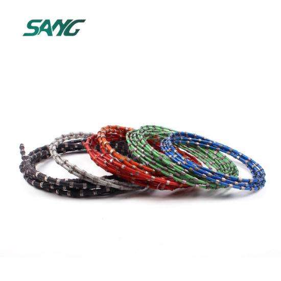 China Soft Granite Wire Saw Cutting - China Diamond Wire Saw ...
