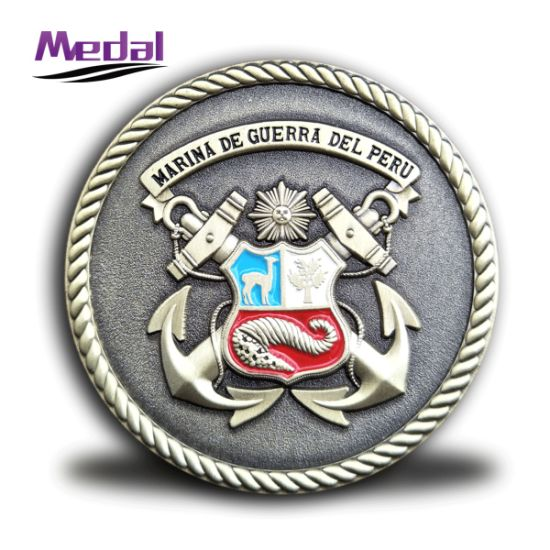 3D Die Casted Zinc Alloy Bronze Marine Challenge Coin