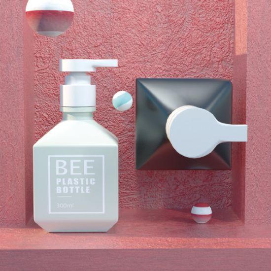 300ml 450ml Shower Gel Liquid Soap Body Lotion PE Shampoo Plastic Bottle (AJ-450)