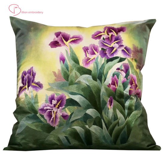 Embroidery Decorative Pillow Soft Soild Square Throw Pillow Covers Set Cushion for Sofa Bedroom Car