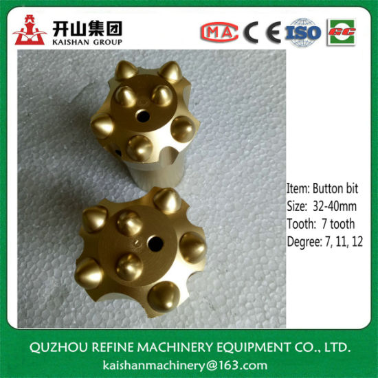 China 40mm Top End Tapered 7 Button Insert Drill Bit for