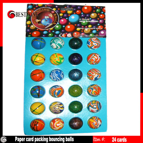 Paper Card Packing Bouncing Balls 24PCS/Card pictures & photos