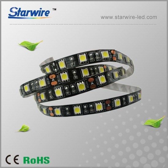 Black PCB 5050 LED Strip Light 12V/24V pictures & photos