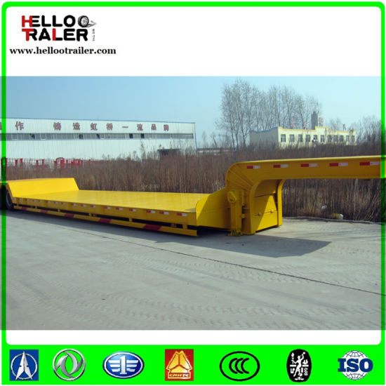 China 50ton 3 Axles Low Bed Truck Trailer pictures & photos