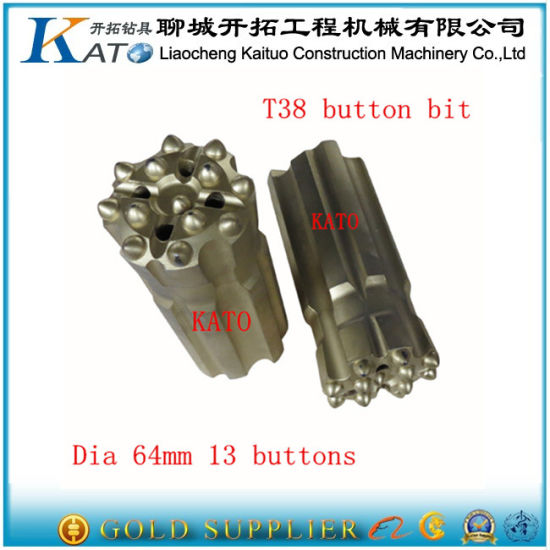 Drilling Rig Thread Button Bit Kato R38 pictures & photos