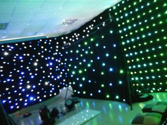 RGBW LED 2*3m Star Curtain Sky Twinkling Star Cloth Curtain for Disco Party pictures & photos